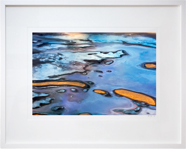 Marbled Earth Framed Image Lake Eyre